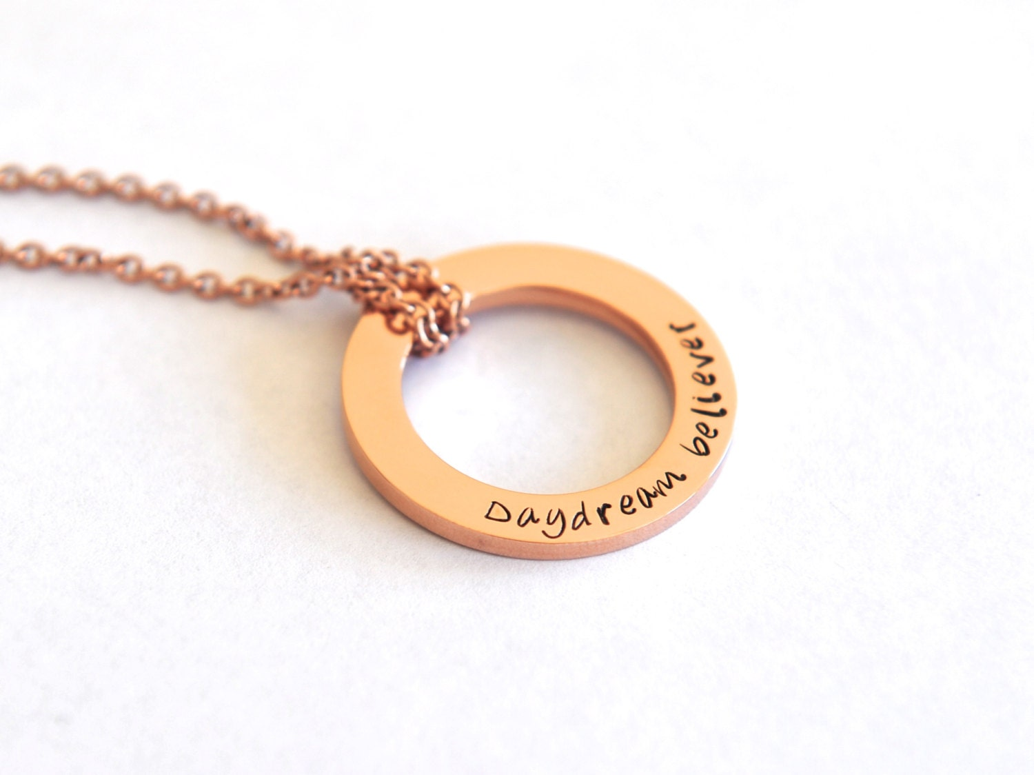 Hand Stamped Inspiration Necklace Inspiring Words Jewelry