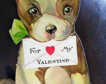 1938 BIG Puppy Valentine Card