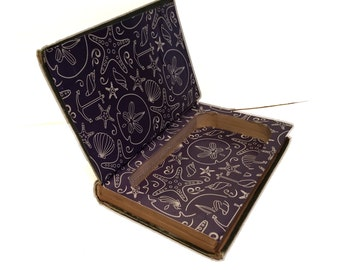 Hollow Book Safe Cape Cod Cloth Bound vintage Secret Compartment Security hiding place