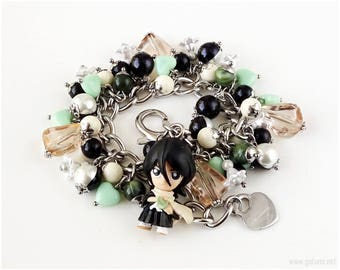 Bleach Rukia Charm Bracelet, Anime Bracelet, Anime Gifts, Otaku, Kawaii Jewelry