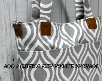Add 2 Outside Slip Pockets Upgrade - For Your BagEnvy Handbag Or Diaper Bag