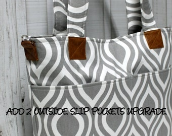 Add 2 Outide Slip Pockets Upgrade - For Your BagEnvy Handbag Or Diaper Bag