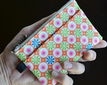Oilcloth Card Wallet, Coin Purs, ID Wallet, Business Card Case - Matte Finish Orange