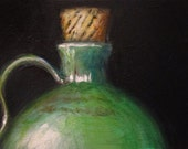 Corked Bottle - original daily painting by Kellie Marian Hill