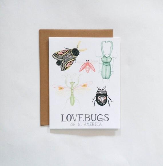 Lovebugs Valentine's Day Card