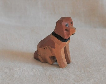 miniature German hand carved toy dog