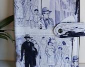 Fernando Pessoa fabric book cover    , handmade,Claudia Candeias, ready to ship