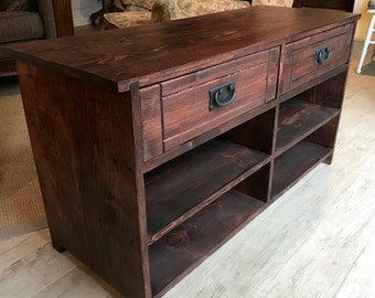 """Shoe Bench - Entryway Furniture - Entry - Storage - Wooden - Solid Wood - Two Drawers - 23"""" Tall x 43"""" Long x 16"""" Deep - Mahogany Shown"""