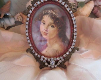 Vintage Jewelry Picture Frame, Italy