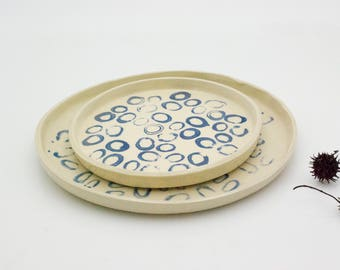 Ceramic dish set, Dinner Set, Ceramic Plates, Pottery Plates, Place Setting, Handmade Pottery,