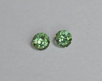 Green Tourmaline, Tourmaline for Earrings, Tourmaline Pair, Afghanistan Tourmaline, 5mm Tourmaline, Tourmaline Gemstones, MInt Tourmaline