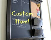 Custom order for Nick - Large insert Cork, small insert dry erase, one pocket and ship to the UK.