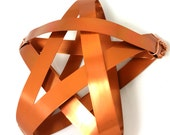 Copper Star Tree Topper - Rustic metal handmade tree topper - sample sale 1212 - copper tree star medium tree topper