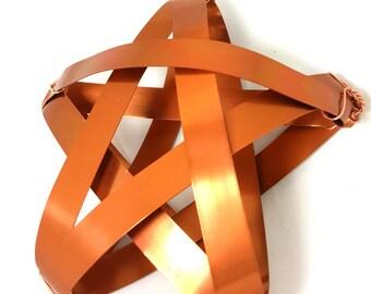 Copper Star Tree Topper - Rustic metal handmade tree topper - sample sale 1212 - copper tree star medium tree topper