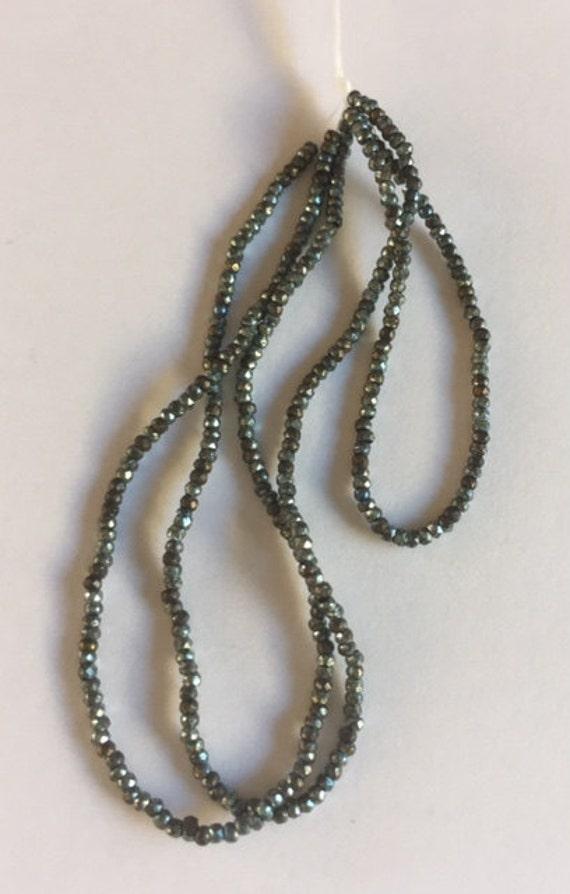 RARE - Antique Metal  Micro Beads - BLUE