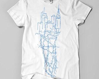 NY CITY VEINS (Manhattan) - Men's tshirt
