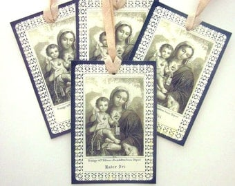 Religious Gift Tag Handmade Christmas Gift Tag Christ Child Holy Card