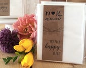 Set of 10 Personalised Wedding Favour Tissues for Happy Tears