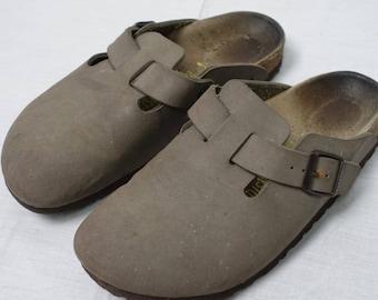 Vintage BOSTON Birkenstock Clog Shoe Sz-37 Sandal