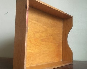 Holiday Sale. Vintage Dovetailed Wooden Drawer Organizer.