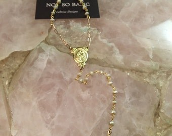 Rosary Opal Rose Gold