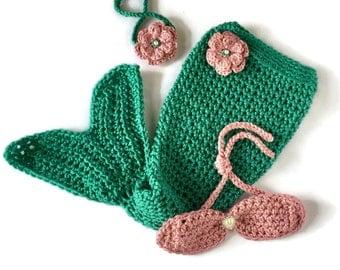 Mermaid Tail Blanket - Mermaid Blanket - Mermaid 1st Birthday - Mermaid Costume - Baby Mermaid Outfit - Newborn Mermaid Outfit - Mermaid Bra