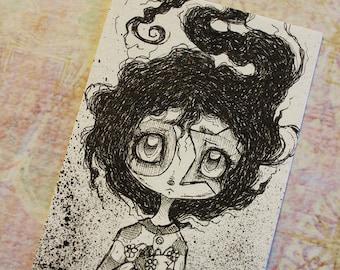Original Inktober ACEO No 8 Coulrophobia  lowbrow art