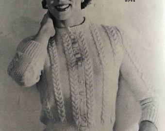 1950's Ladies' vintage knitting pattern