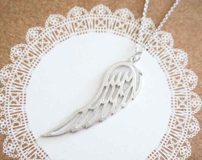 Simple Feather Wing Necklace / Let us Fly Silver gift nature inspired, garden wedding, bridesmaid bridal shower necklace