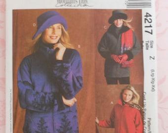 Jacket Sewing Pattern UNCUT McCall's 4217 Sizes 12-25 Plus Size hat