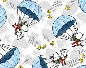Fun Snoopy Parachute Fabric-- 40-70% off Patterns n Books SALE