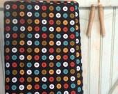 SaleToday Organic Buttons Fabric Half Yard Button Circle Fabric Joan | Black Mad Mend for Cloud9 Fabrics Bright Bold Retro Geometric Dot Rep