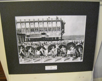 Bathing Beauty Contest 1926 Daytona Beach, FL Vintage Print Matted 16x20