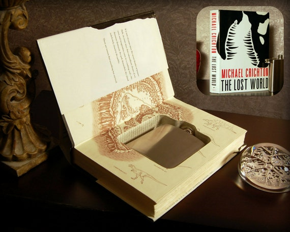 Hollow Book Safe & Flask (The Lost World)