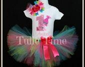 Trolls Poppy 1st 2nd 3rd 4th 5th number birthday shirt onesie tutu dress combo bow headband size 12m 18m 24m 3t 4t 5t