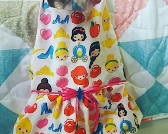 Costum Order Avalible for this print Princess fabric - The Doggie House