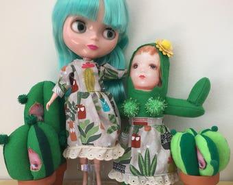 Cactus Print Dress for Blythe