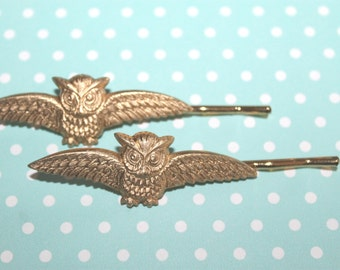 Owl Bobby Pins make beautiful gifts and everyday hair accessories!