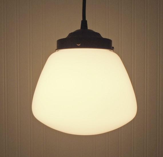 Vintage Milkglass PENDANT Farmhouse Lighting Ceiling Fixture