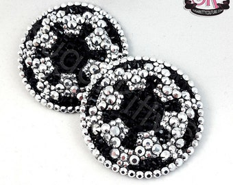 Galactic Empire Star Wars Inspired Rhinestone Nipple Pasties - SugarKitty Couture