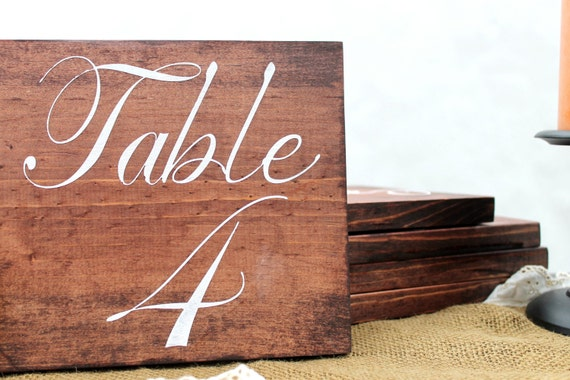 Table Numbers, Wood, Sign, Rustic Wedding