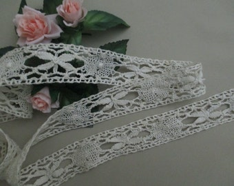 Antique Lace Vintage Lace Trim Cotton Cluny