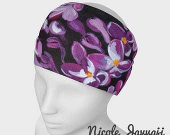 Lilacs in Bloom Headwrap headband scarf face warmer