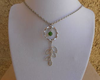 Green Aventurine Leaf Necklace