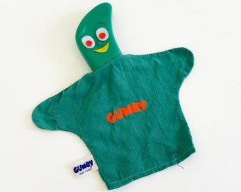 Vintage 1960s Toy / Lakeside Toys Gumby Hand Puppet 1965 / Toy Television Show Collectible