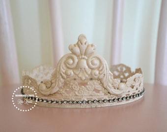 Solder Crown Antique Pink
