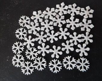 Mini Wool Felt Snowflakes