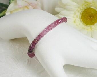 Tourmaline Bracelet Precious Stone and Sterling Silver Bracelet