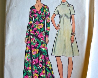 Simplicity 5850 Look Slimmer Pattern Misses Dress in Two Lengths Size 16 UNCUT