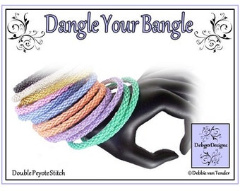 Beading Pattern, Tutorial, (Double Peyote), Bangle - DANGLE YOUR BANGLE